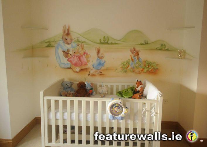 Nursery murals toddler murals baby rooms baby designs for Baby mural wallpaper