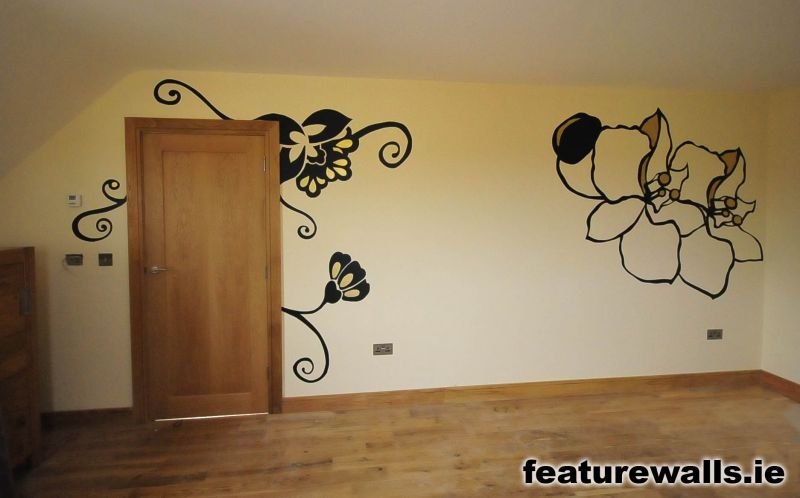 Stencilling hand painted bespoke interior design for Interior wall paint designs