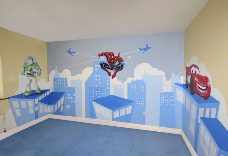 Kids murals childrens rooms decorating kids rooms super for Children s wall mural