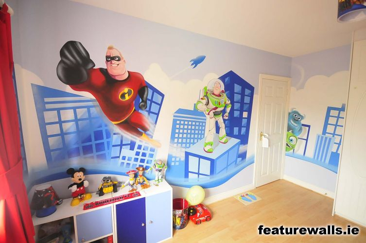 Kids Murals Childrens Rooms Decorating Kids Rooms Super Hero Murals